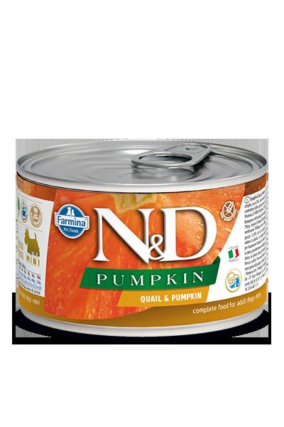 Farmina N&D Pumpkin Canine Mini Umido 140 gr Quaglia e Zucca
