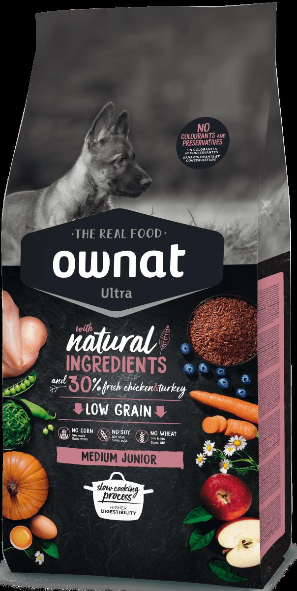 Image of Ownat Dog Ultra Medium Junior: 3 kg
