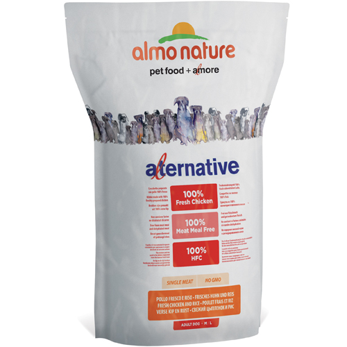 Image of Almo Nature Alternative M-L Pollo Fresco e Riso: 3,75 kg