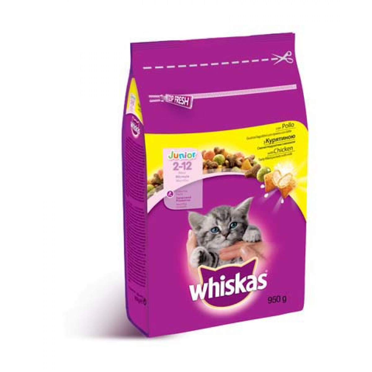 Image of Whiskas Dry Junior Pollo: 950 gr