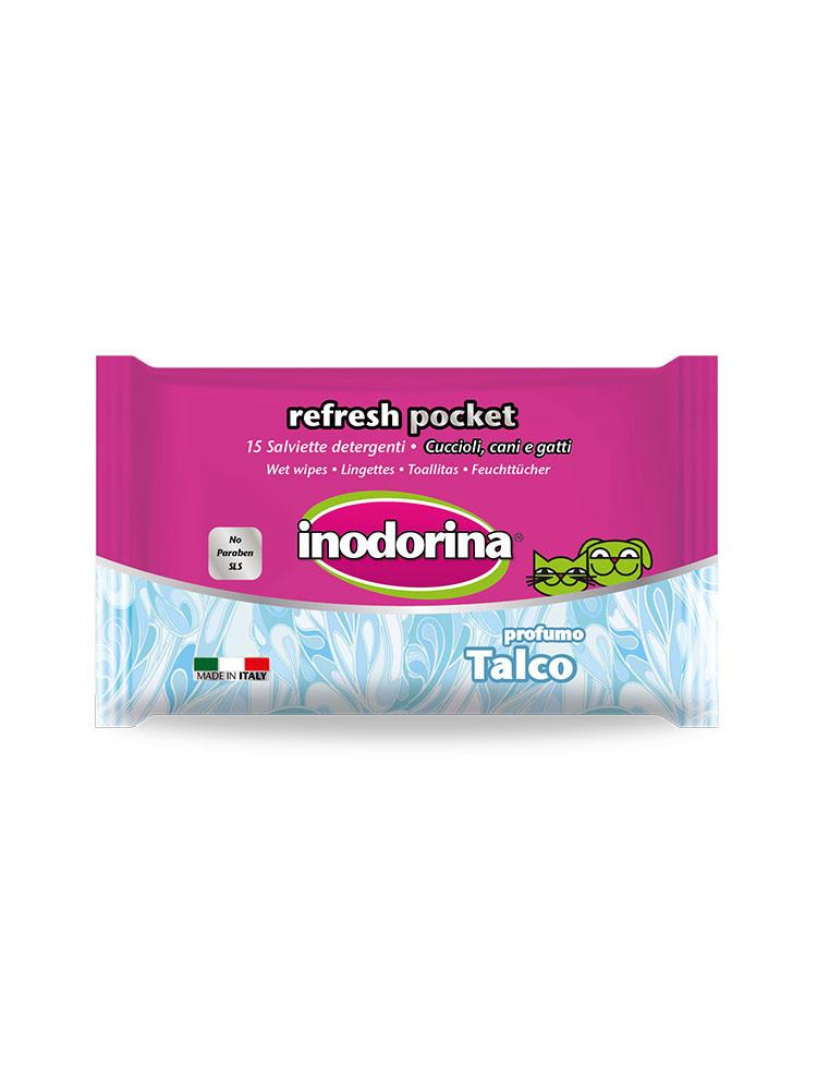 Image of Inodorina Refresh Pocket Salviette Detergenti: 15 pz - Talco