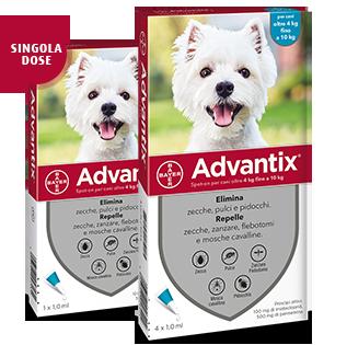 Image of Advantix Spot-On per cani 4-10 Kg : 4 pipette