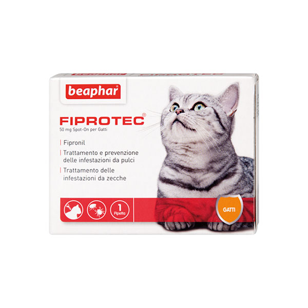 Image of Beaphar Fiprotec Spot On Gatto : 1 pipetta