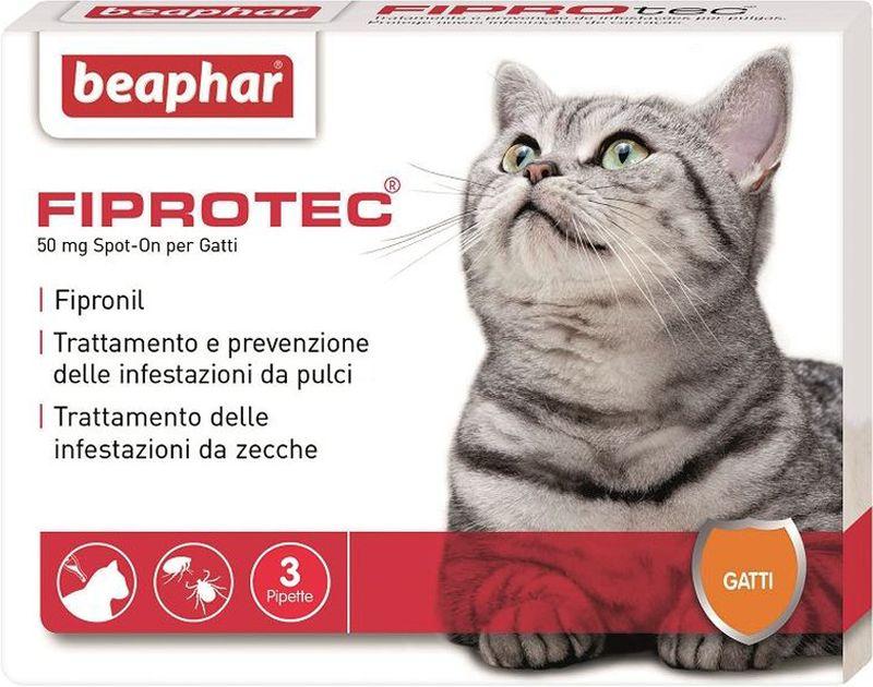 Image of Beaphar Fiprotec Spot On Gatto 3 pipette da 50 mg 9006952