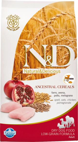 Image of N&D Low Grain Adult Mini Pollo e Melograno 7 kg 9007567