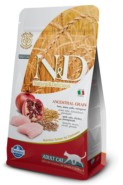 Image of N&D Low Grain Feline Adult Pollo e Melograno 5 kg 9007614