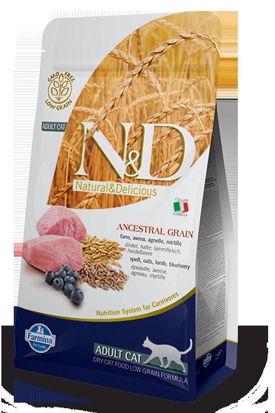 Image of N&D Low Grain Feline Adult Agnello e Mirtillo 5 kg 9007615