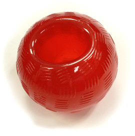 Gimdog Playstrong Palla in Gomma Rossa: 1 Palla in Gomma Rossa 9,5 cm