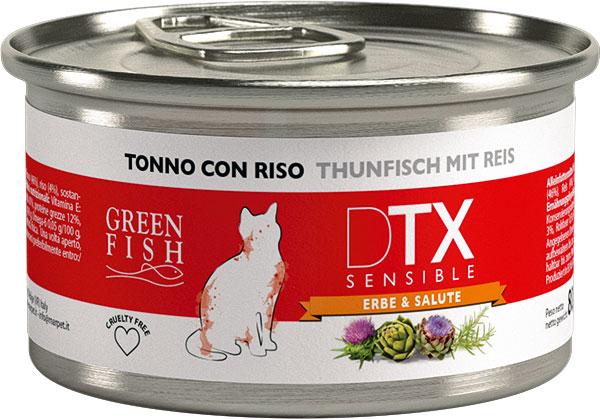 Image of Marpet Green Fish DTX Sensible per Gatti 80 gr Tonno e Riso 9008578