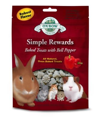 Image of Oxbow Simple Rewards Baked Treats 60 gr: Apple & Banana