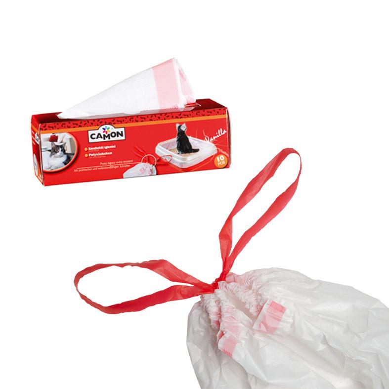 Sacchetti igienici profumati Camon: 1 conf da 10 sacchetti per lettiera