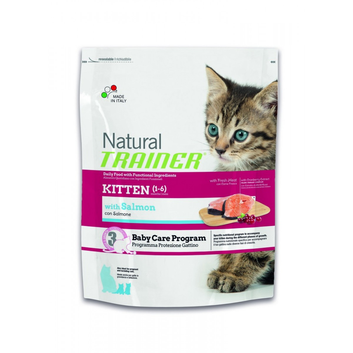 Image of Trainer Natural Kitten al Salmone: 1,5 kg
