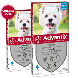 Image of Advantix Spot-On per cani 4-10 Kg 1 pipetta 9012909