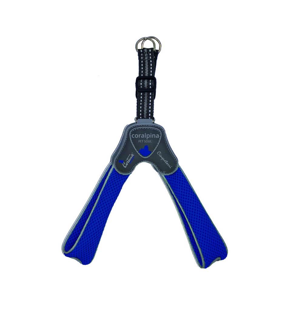 Image of Pettorina Cinque Torri Coralpina Pet Soul Taglia 3 (4-5 kg) - Blu Elettrico 9014936