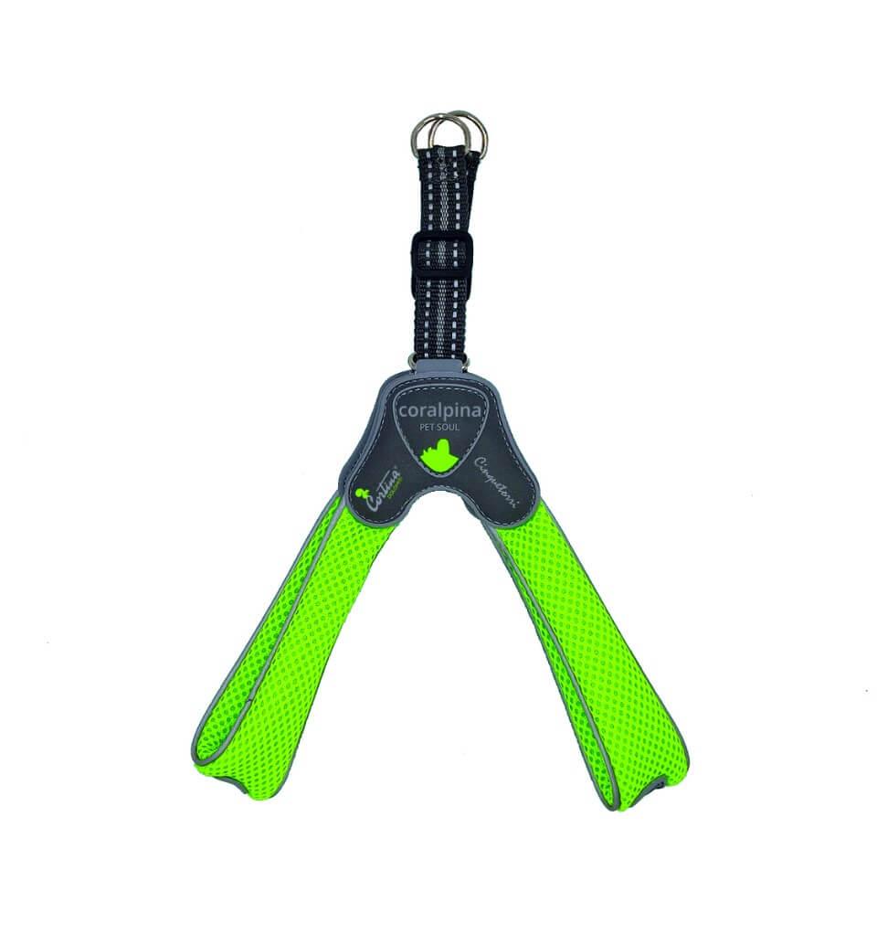 Image of Pettorina Cinque Torri Coralpina Pet Soul Taglia 3 (4-5 kg) - Verde Fluo 9014952