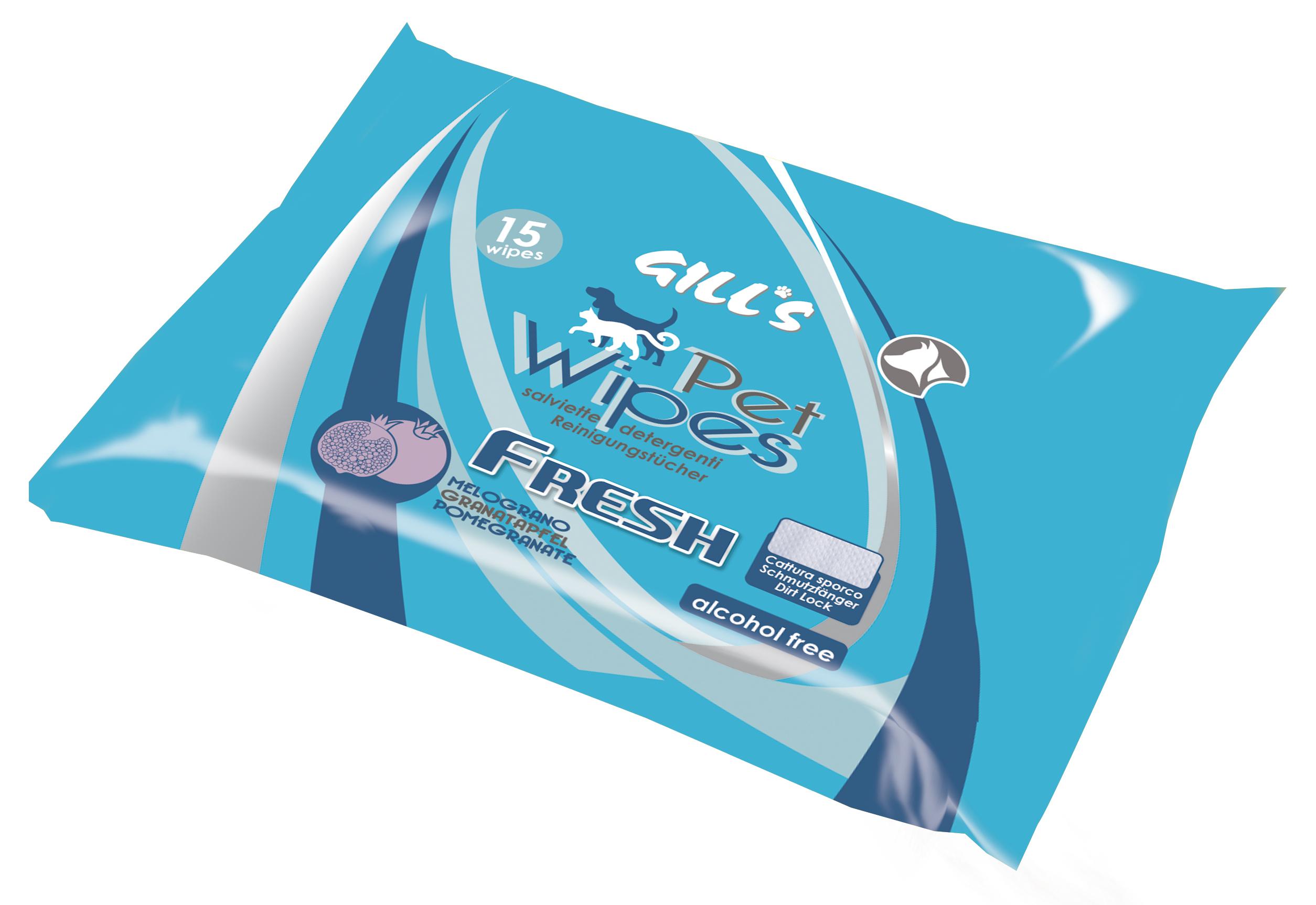 Image of Gill's Salviette Umidificanti Fresh Melograno 1 confezione da 15 pz 9018440