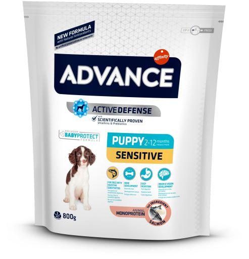 Image of Advance Puppy Sensitive Salmone e Riso: 800 gr