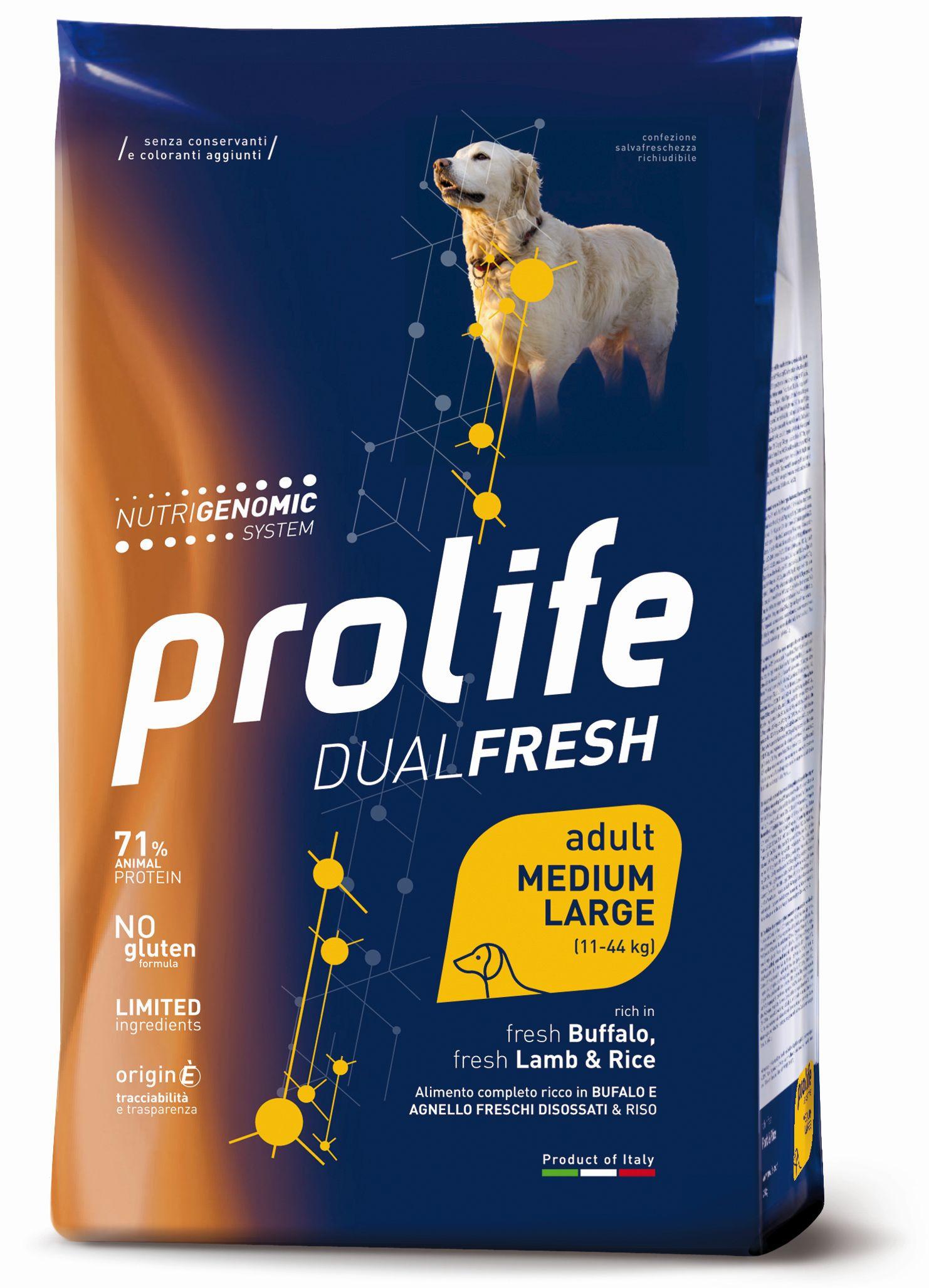 Prolife Adult Dual Fresh Bufalo e Agnello 12 kg