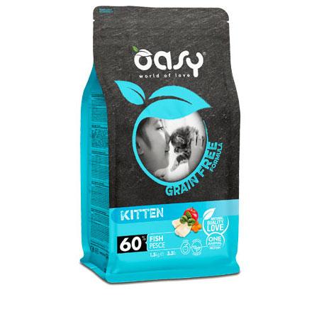 Oasy Grain Free Kitten Pesce 7,5 Kg