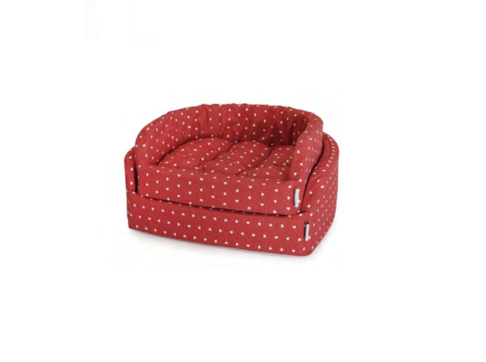 Image of Cuccia Red Heart Fabotex: 55 x 50 x 19 cm
