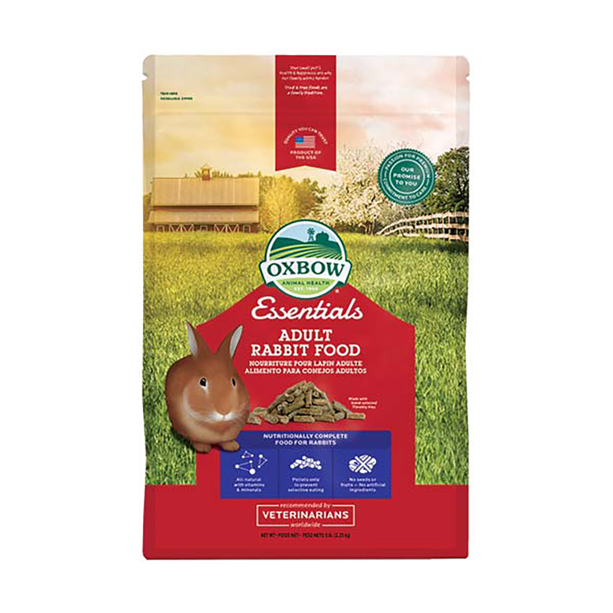 Image of Oxbow Essential Adult Rabbit Food : 2,27 Kg