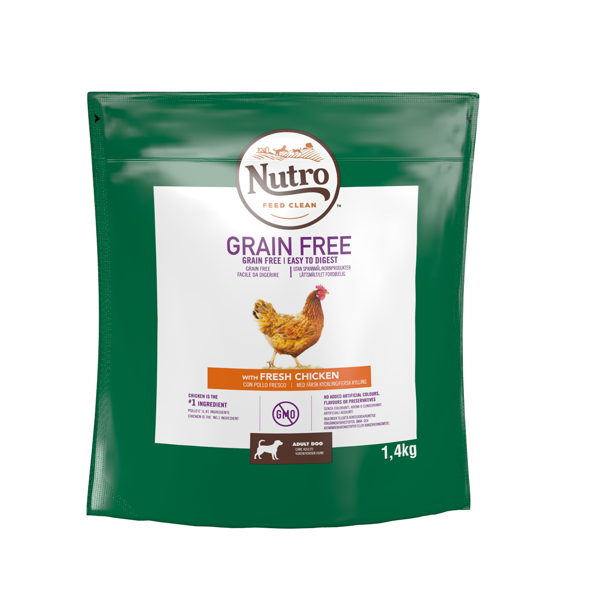Image of Nutro Grain Free Adult Small Pollo: 1,4 Kg