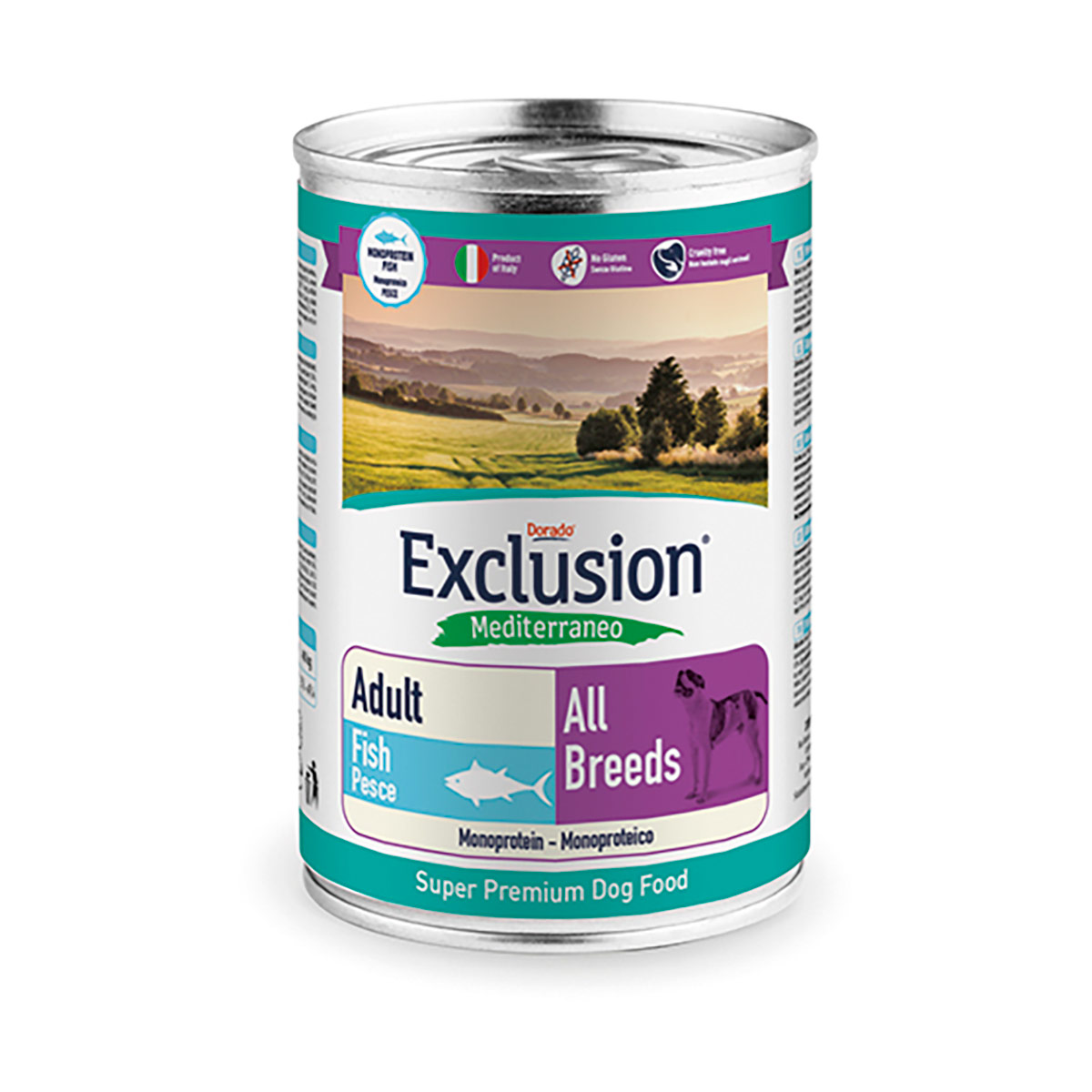 Image of Exclusion Mediterraneo Adult All Breed 400 gr Pesce 9000548
