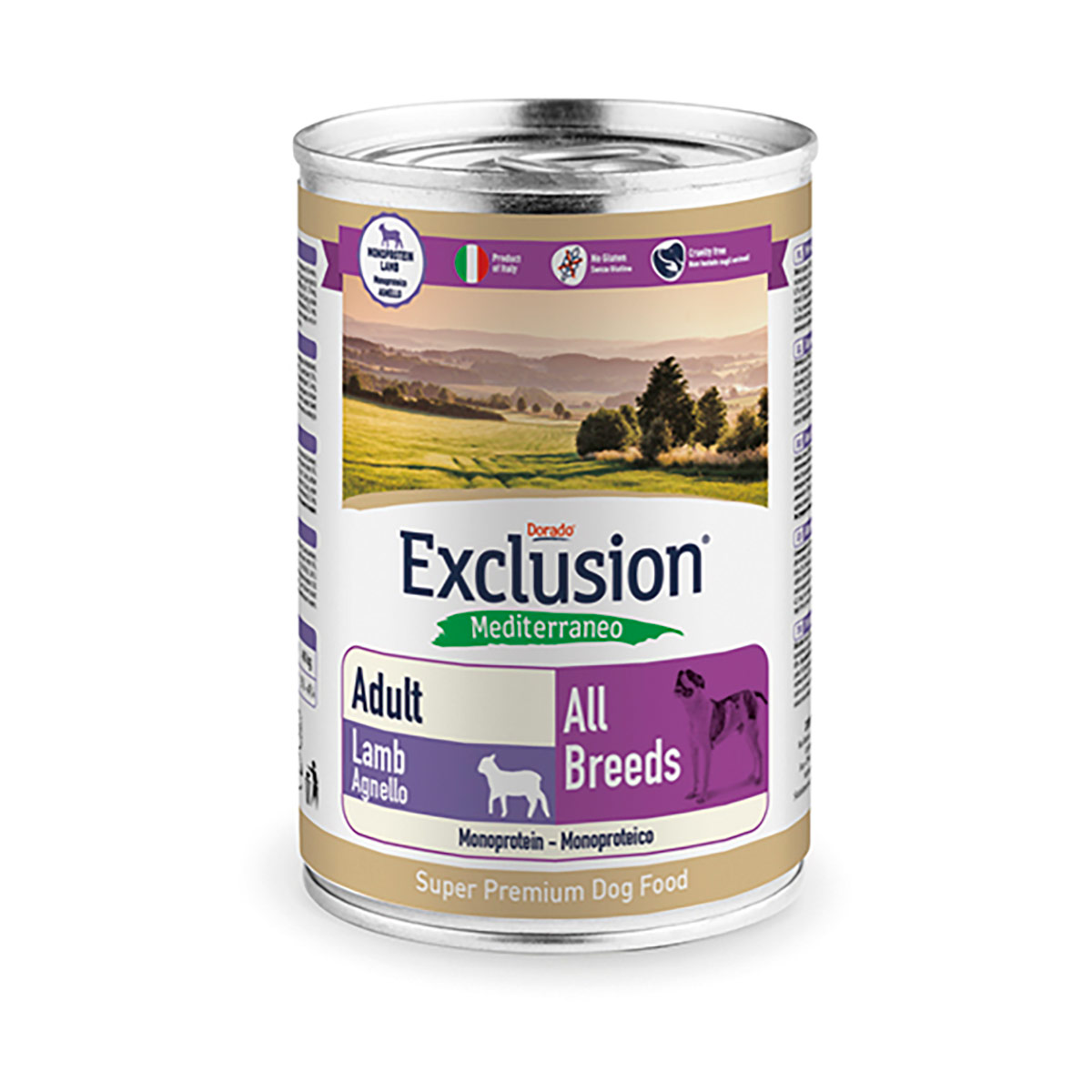 Image of Exclusion Mediterraneo Adult All Breed 400 gr Agnello 9000547