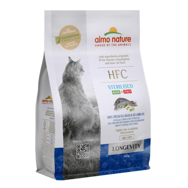 Almo Nature HFC Gatto Longevity Sterilised Spigola e Orata: 300 gr