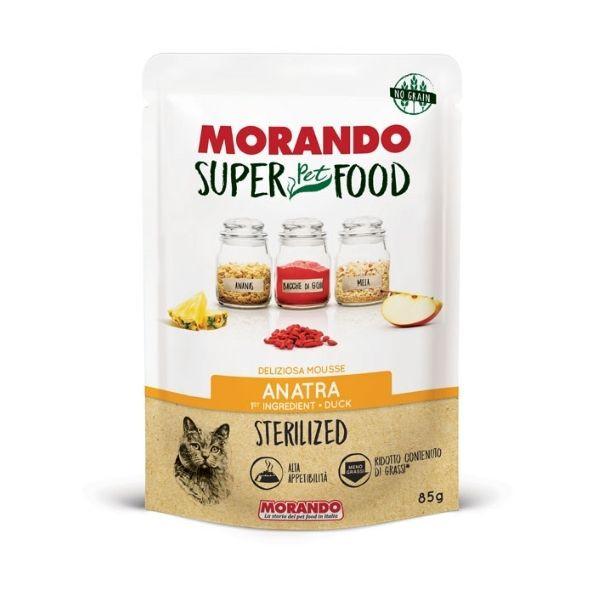 Image of Morando Super Food Sterilized Mousse 85gr: Anatra Sterilized