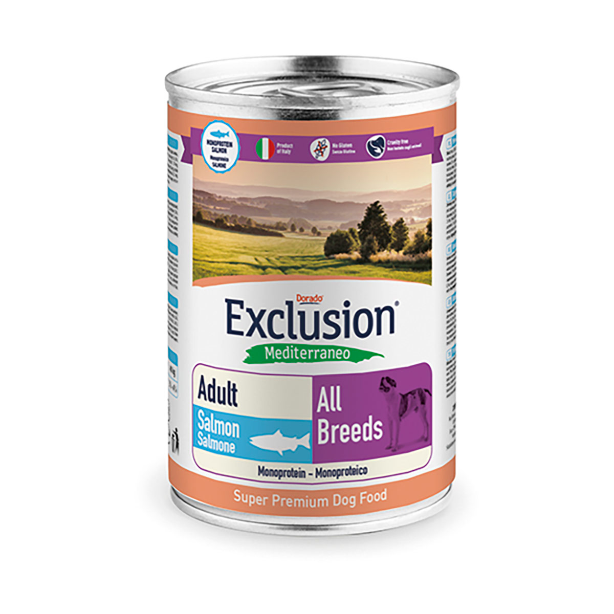 Image of Exclusion Mediterraneo Adult All Breed 400 gr Salmone 9000544