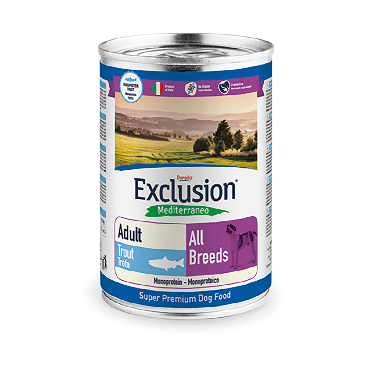 Image of Exclusion Mediterraneo Adult All Breed 400 gr Trota 9000543