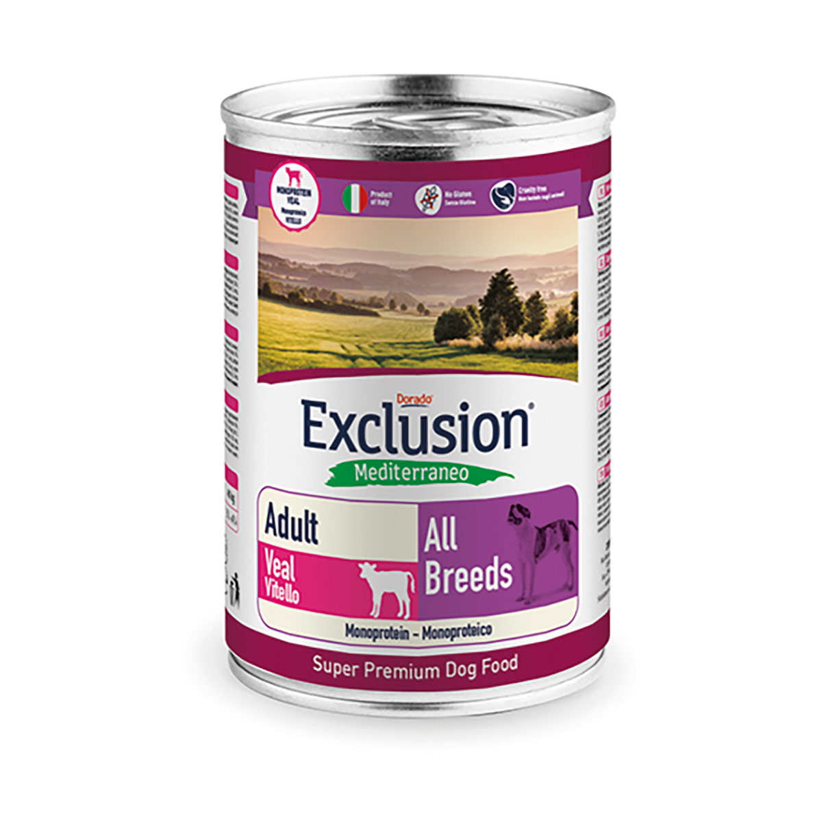 Image of Exclusion Mediterraneo Adult All Breed 400 gr Vitello 9000546