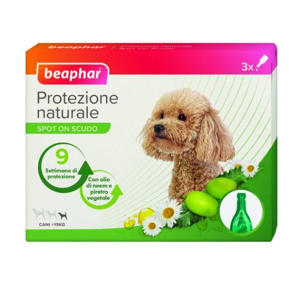 Image of Beaphar Protezione Naturale Spot On per cani: 3 pipette da 1 ml per cani di taglia piccola