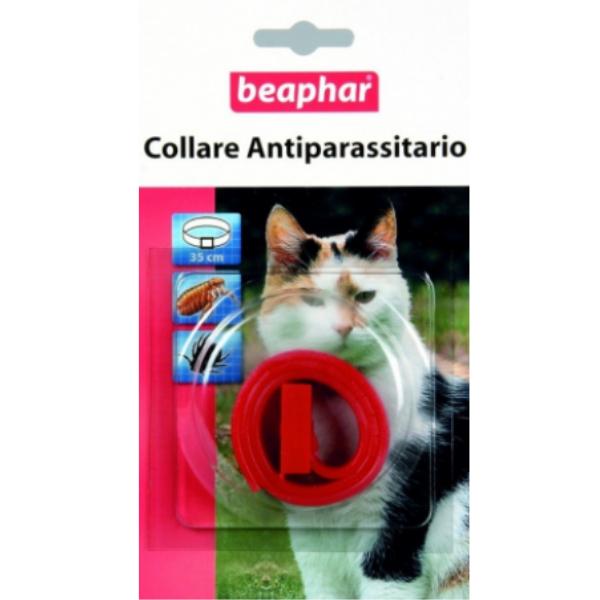 Image of Beaphar Collare Antiparassitario Gatto Rosso: 35 cm