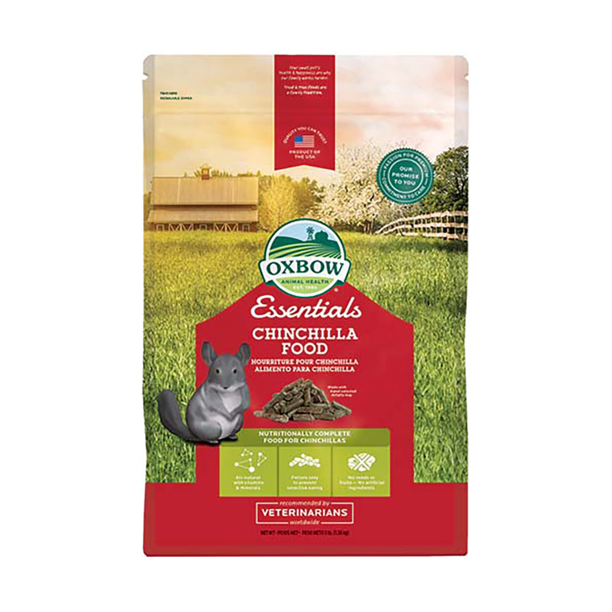 Image of Oxbow Essential Chinchilla Deluxe : 1.36 kg