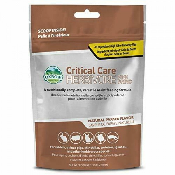 Image of Oxbow Critical Care Herbivore Fine Grind da 100gr: 1 busta