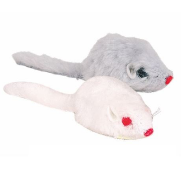 Image of Gioco Mouse in Peluche Longhair Pad con campanellino Trixie: 5 cm