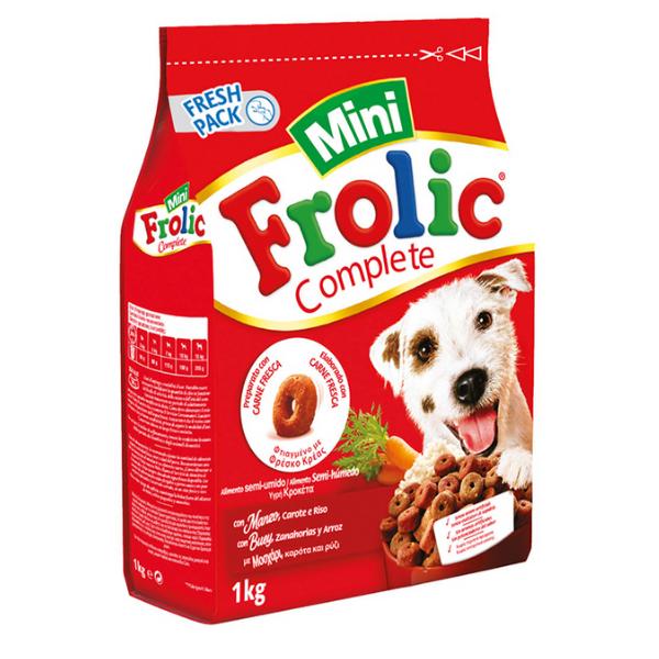Image of Frolic Mini Anelli con Manzo Carote e Riso: 1 kg