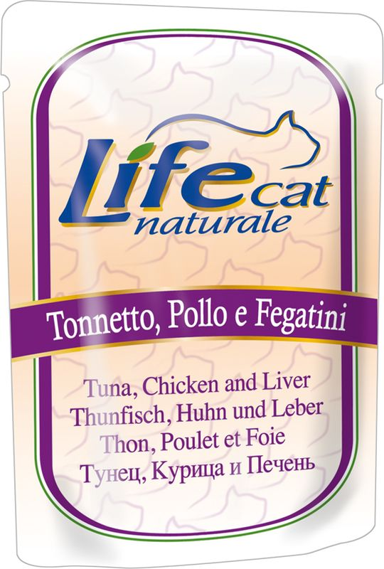 LifeCat Natural Buste Tonnetto, Pollo e Fegatini