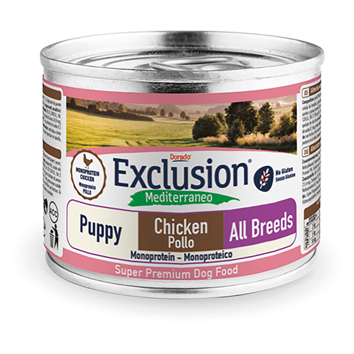 Image of Exclusion Mediterraneo Puppy/Junior All Breed 200 gr Pollo 9000550