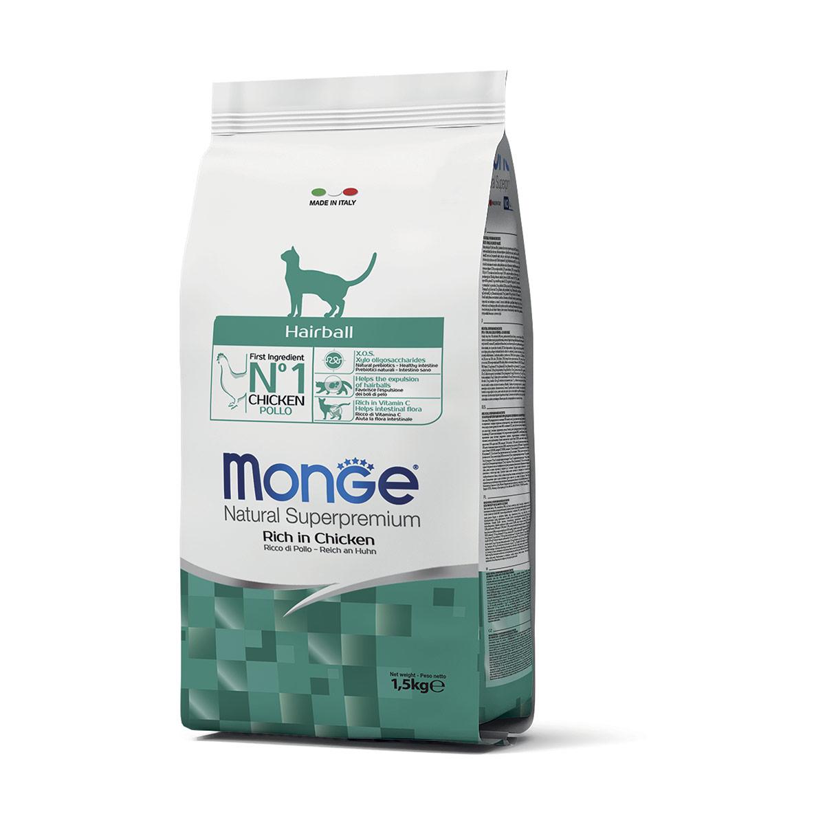 Image of Monge Superpremium Hairball: 10 kg