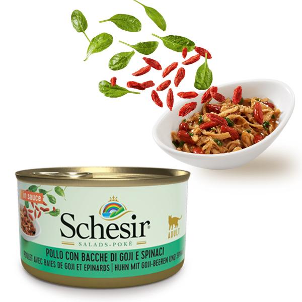 Schesir Salads Poke 85 gr: Pollo con Bacche di Goji e Spinaci