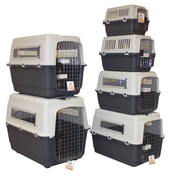 Trasportino rigido per cani e gatti Croci : Trasportino XXL Rosso