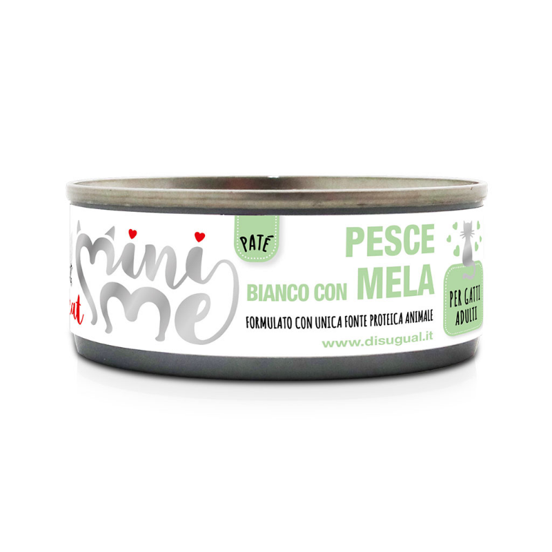 Disugual Mini Me Monoproteico con Frutta 85 gr Pesce Bianco con Mela